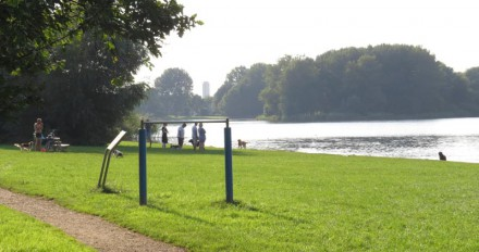 Hannie Schaftpark - Zuidoever Leeghwaterplas richting Centrum