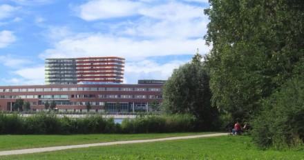 Blik op ziekenhuis