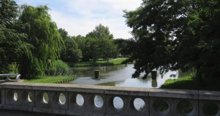 Vanaf oostelijke brug