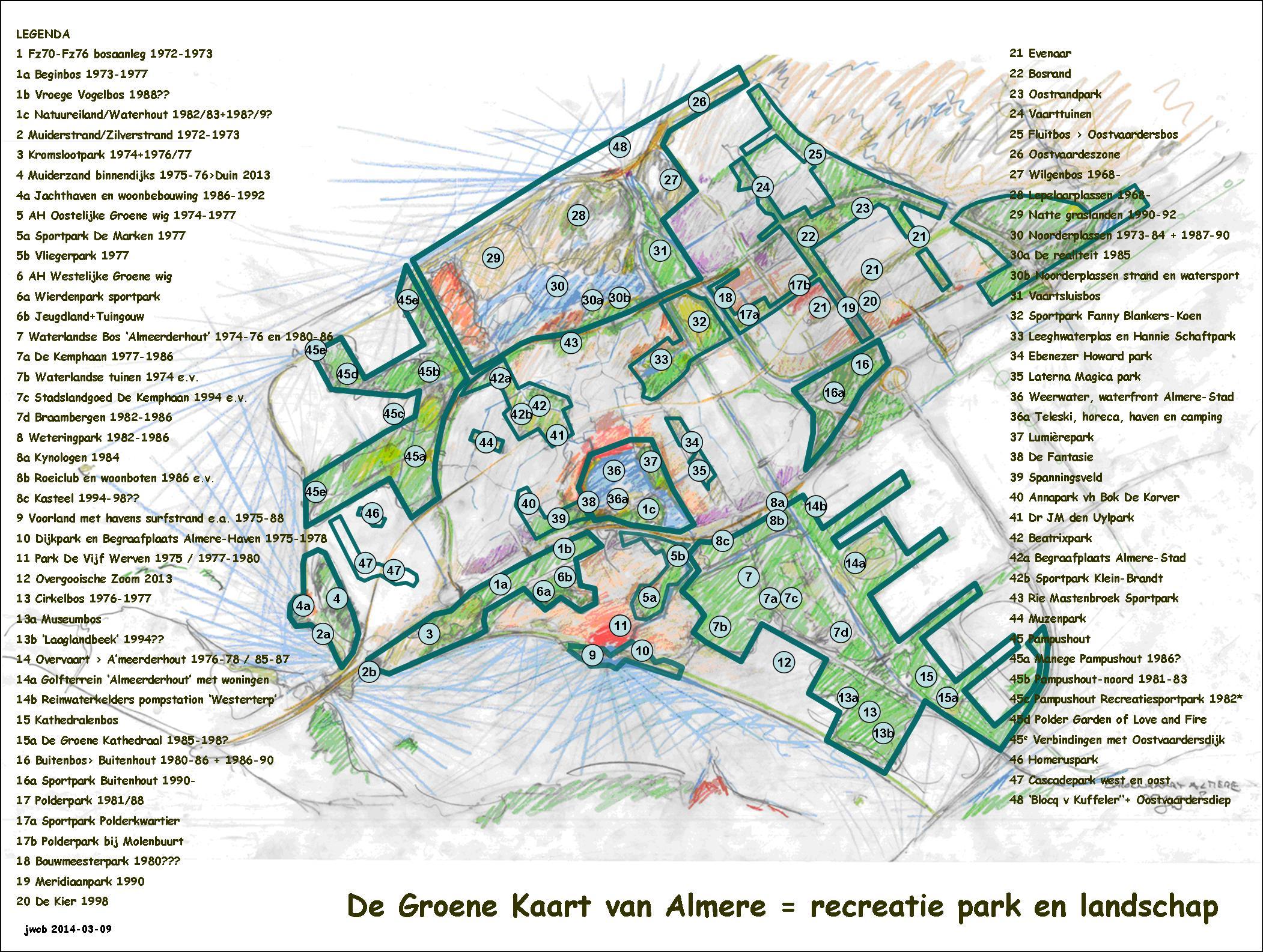 De Groene Kaart van Almere