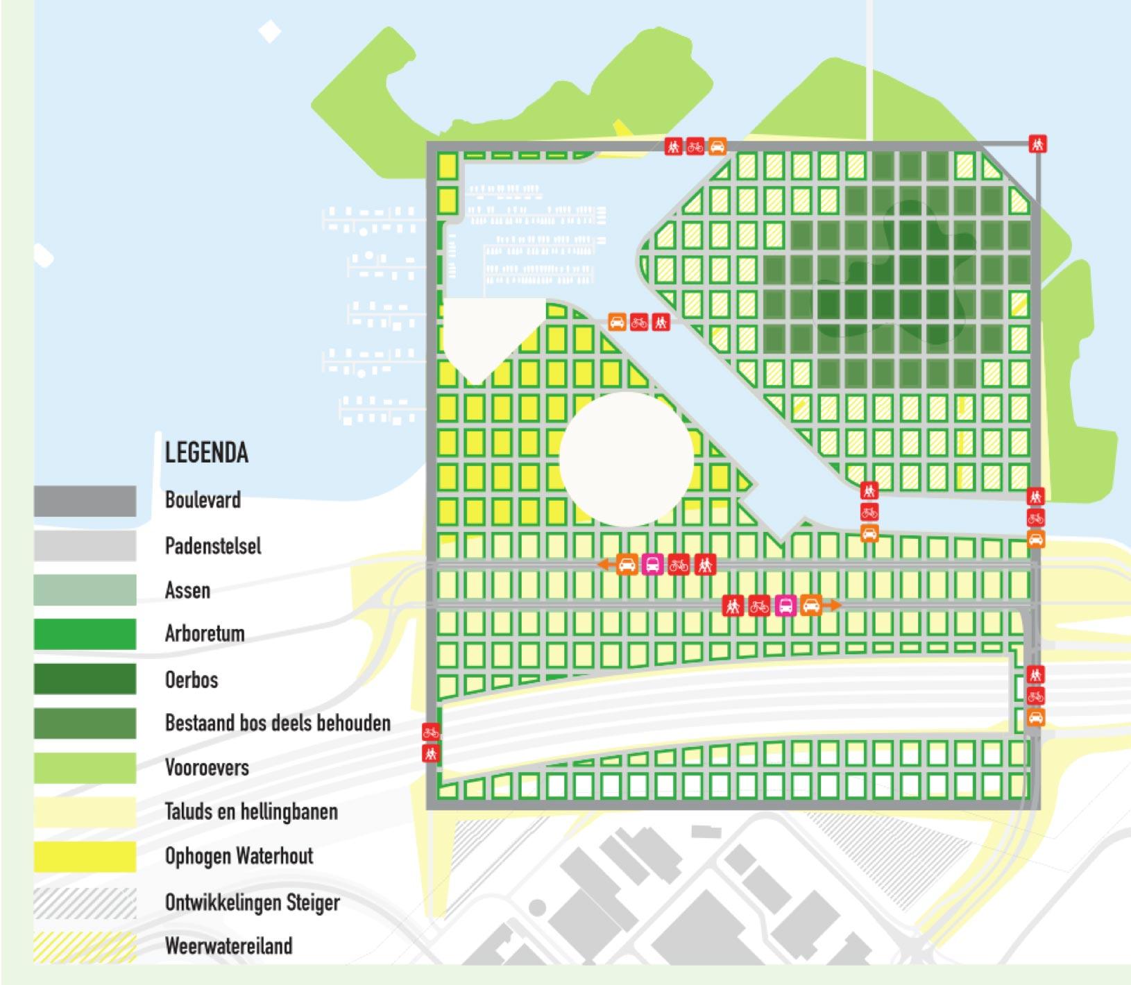 In de meest recente plannen is voor het Weerwater (omgeving) een ingrijpende transformatie voorzien.