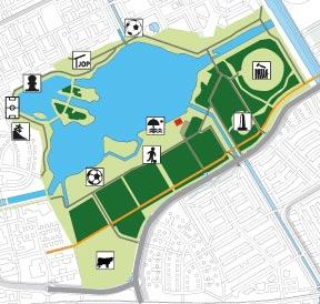 Leeghwaterplas, Hannie Schaftpark, Bos der Onverzettelijken