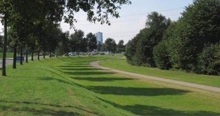 Parkrand langs Veluwedreef