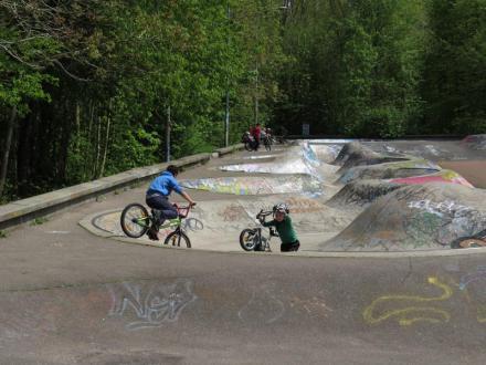 Kinderen in Skatepark