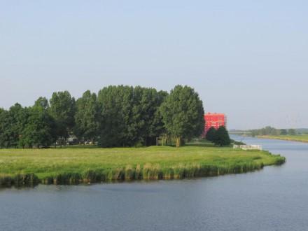Zuidpunt van Merdiaanpark richting Rode Donders