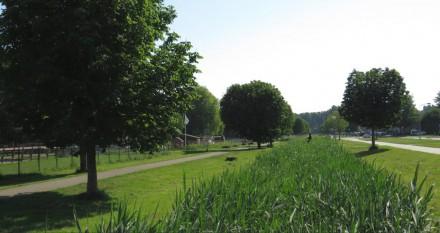Polderpark langs Granpré Molièrestraat