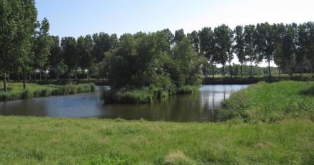 Einde Polderpark bij Lage Vaart